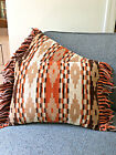 Set of 2 Southwestern Throw Pillows Vintage Matching Pair Aztec Native American