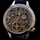 Auth 1900 Omega skeleton pocket watch chasing mechanical watch