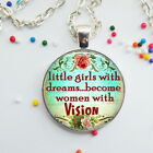 Dream Girls Glass Necklace Pendant Best Friends Gift Letter Jewelry