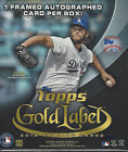 2016 TOPPS GOLD LABEL BASEBALL FACTORY SEALED HOBBY BOX