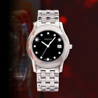 FANTASTIC GUCCI MEN'S QUARTZ SS BLACK ROMAN DIAL DATE DIAMOND WATCH