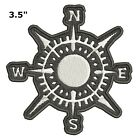 Compass Embroidered Patch Iron-On Souvenir Travel Explore Nature National Parks