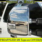 2017 2018 2019 Ford F250 F350 Superduty CHROME Mirror COVERS Towing w/Signl Hole