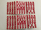 2 Sheets BOLD Cherry Red Alphabet ABC Letter Stickers Creative Memories