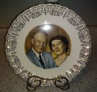 Vtg Americas 1st Family President & Mrs Dwight D Eisenhower Collectors Plate 9