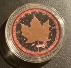 2016 Canada $5 LOGARITHMIC UNIVERSE MAPLE Leaf 24k Gold & Ruthenium 1 Oz Silver