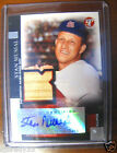 Stan Musial 2005 Topps Scarce Base 6 49 Autographed Game Used Bat Card 1 1