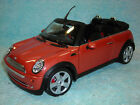 1 18 SCALE DIECAST 2003 MINI COOPER CABRIO IN METALLIC CORAL BY 100 HOT WHEELS