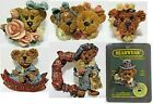 6 Boyds Bears Pins, Boyd's Bearwear - Light a Candle, Born to Shop, Uncle Elliot