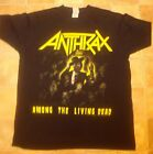Anthrax Among the Living Dead T shirt Size large