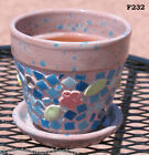 Flower Pot Planter Handmade Flower  Heart also Glass tiles Mosaic Planter F232