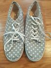 Vans Womens Grey White Stars Size 10 Canvas sneakers shoes