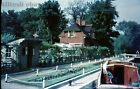 Original 35mm colour slide of Sonning Lock, River Thames, Berkshire 1960s