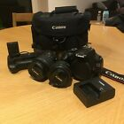 CANON EOS 1100D DSLR CAMERA INCLUDING 2 x LENS, CANON BAG & PORTRAIT GRIP