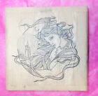 Stamp Oasis Candle lit goddess rubber stamp woman lady women mystical fantasy