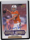 2011 UD WORLD OF SPORTS BERNIE KOSAR #99 HURRICANES BROWNS AUTOGRAPH AUTO*