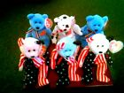6 TY PATRIOTIC BEANIE BABIES - GLORY, 2 AMERICAS AND 3 SPANGLES ALL MINT SHAPE !