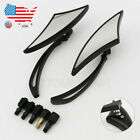 Motorcycle Blade Rearview Mirrors for Harley Davidson XL 883 Hugger Sportster