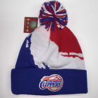 Mitchell & Ness NBA Los Angeles Clippers Cuffed Pom Knit Beanie 10381