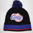 Mitchell & Ness NBA Los Angeles Clippers Blackout Stripe Knit Beanie 11530
