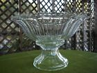 Indiana Glass Colonial Panel Scalloped Rim Large Punch Bowl w/ Stand