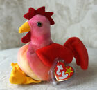 Ty Beanie Baby DOODLE the Rooster ALL ERRORS! NO * ON TUSH PVC PELLETS MINT