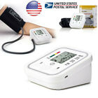 Automatic LCD Digital Upper Arm Cuff Blood Pressure Heart Rate Monitor Meter US