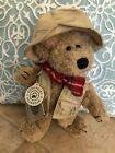 "Boyds Bears Lot S Rodney 1998 Special Limited Edition 8""Plush Fisherman Bear NWT"