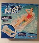 Inflatable Swimming Pool Float for Lounge Chair on Lake Lounger Tube 62 X 35