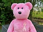 Ty Beanie Babies Baby Breast Cancer Awareness Pink Teddy Bear Plush Stuffed Doll