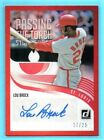 2018 Donruss PASSING THE TORCH RED Lou Brock & Rickey Henderson # 25 DUAL AUTO