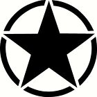 Army Star Vinyl Sticker Decal Military Choose Size  Color