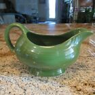 VINTAGE FIESTA DARK OR FOREST GREEN GRAVY OR SAUCE BOAT / MINT & BEAUTIFUL!