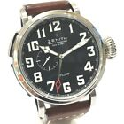 AUTHENTIC ZENITH Pilot Aeronef Type 20 GMT Men's Wristwatch Auto 03.2430.693
