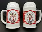 Vintage Campbells Salt and Pepper Shakers 5 Tall 1990 Tall White Red NMT