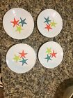 (4) FOUR Fiesta Ware Coastal Starfish Lunch Plate Retired Exclusive 9 INCH