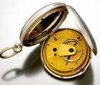 ANTIQUE STERLING SILVER LEVER FUSEE POCKET WATCH CA1860  WM WRIGHT ENGLISH