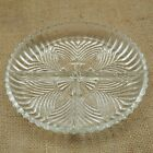 Vintage Clear Depression Glass Divide Shallow Dish Serving Tray
