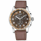 Victorinox Chrono Classic XLS Brown Dial Leather Strap Men's Watch 241653