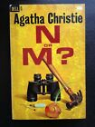 AGATHA CHRISTIE N OR M  FIRST EDITION DELL PAPERBACK WILLIAM TEASON ART
