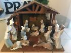 LLADRO CHILDRENS COMPLETE NATIVITY SET w MANGER  4 EXTRA PIECES FAST SHIPPING