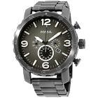 Fossil Nate Gunmetal Dial Stainless Steel Men's Watch JR1437