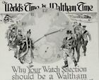 1918 Waltham Watch Print Ad The Worlds Time is Waltham Time Sept 1918