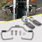 00-17 Harley Heritage Softail Engine Guard Highway Crash Bar+Clamps Foot Pegs
