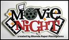 MOVIE NIGHT title paper piecing for Premade Scrapbook Pages DIE CUT by Rhonda