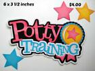 POTTY TRAINING TITLE BABY girl scrapbook premade paper piecing by Rhonda