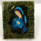 Stained Glass Madonna and Child Tile Mary Jesus AMAZING Modern Unique