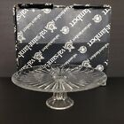 Beautiful Val St Lambert Crystal Balmoral Footed Cake Stand Plate 12 w Box
