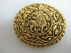 CHANEL Auth brooch gold color Horses S-37
