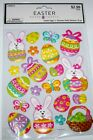 Easter Crafts Scrapbook Stickers Easter Eggs  Bunnies 20 puffy pcs NIP